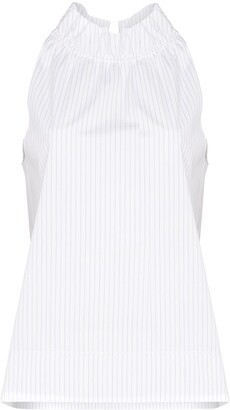 Rosetta Getty Sleeveless Stripe Blouse