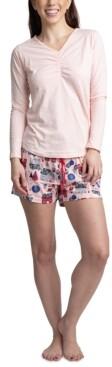 Muk Luks Top, Pants & Boxer Shorts 3pc Pajama Gift Set