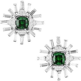 Adriana Orsini Azlyn Rhodium-Plated Sterling Silver Cubic Zirconia Clip Earrings
