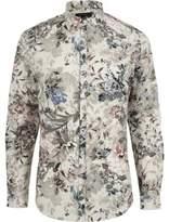 River Island Mens Green floral print slim fit shirt
