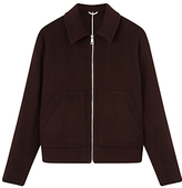 Jigsaw Wool Cashmere Blend Underlined Bomber, Espresso