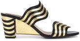Fendi Waves sandals - women - Leather - 38