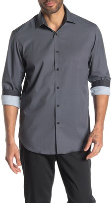 Construct Long Sleeve 4-Way Stretch Slim Fit Shirt