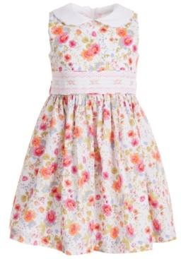 Bonnie Jean Toddler Girls Peter-Pan-Collar Floral Dress