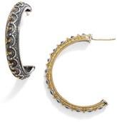 Konstantino 'Hebe' Crown Detail Hoop Earrings