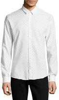 Hugo Ero3 Extra Slim Fit Printed Sport Shirt