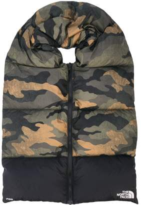 The North Face Nuptse camouflage print scarf