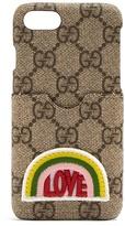 Gucci Love-appliqué GG supreme iPhone® 7 case