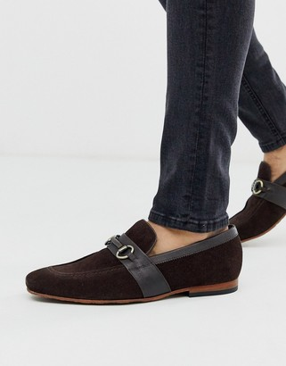 Ted Baker daiser loafer in brown suede