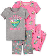 Carter's 4-Pc. Ice Cream Cotton Pajama Set, Little Girls & Big Girls