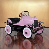 The Well Appointed House Dexton Deluxe Pink Roadster Pedal Car for Kids - ON BACKORDER UNTIL 2017