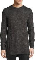 Cheap Monday Astro Waffle-Knit Long Sweater, Black