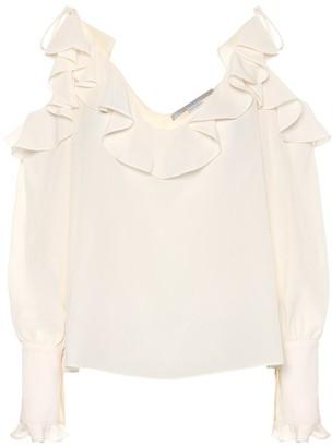 Stella McCartney Ruffled silk blouse