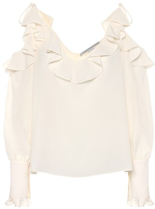 Stella McCartney Ruffled silk blouse