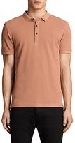 Allsaints Allsaints Reform Short Sleeve Slim Polo Shirt, Clay Red