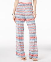 NY Collection Printed-Stripe Palazzo Pants
