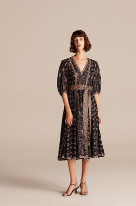 Rebecca Taylor Print Mix Long Dress