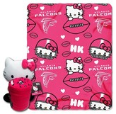 Hello Kitty NFL Falcon Blanket and Hugger Bundle (40 x 50)