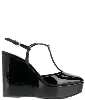 Prada square toe platform pumps