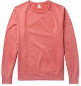 SAVE KHAKI UNITED Fleece-back Supima Cotton-jersey Sweatshirt - Pink
