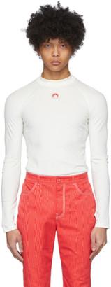 Marine Serre White Iconic Long Sleeve T-Shirt