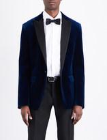DSQUARED2 Regular-fit satin-lapel velvet jacket