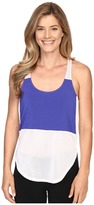 Zobha Racerback Tank Top w/ High-Low Shirttail Hem