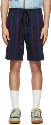 Gucci Navy Stripe Vintage Colton Shorts