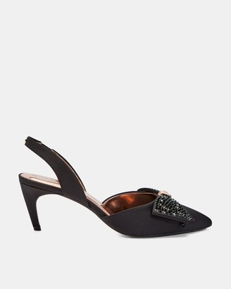 Ted Baker Crystal Bow Sling Back Courts
