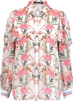 Mother of Pearl Mabel floral-print silk blouse