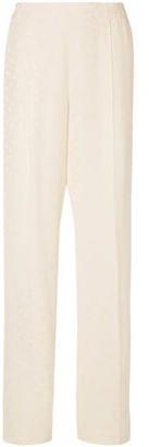 Stella McCartney Pleated Floral-jacquard Wide-leg Pants