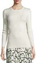 ADAM by Adam Lippes Long-Sleeve Open-Back Sweater, Ivory