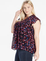 Lucky Brand Ruffle Floral Top