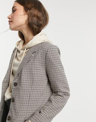 BB Dakota check blazer in brown