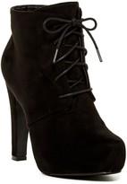 Elegant Footwear Furry Platform Bootie