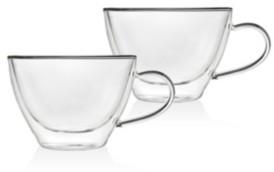Godinger Set of 2 Double Wall Cappuccino Mugs