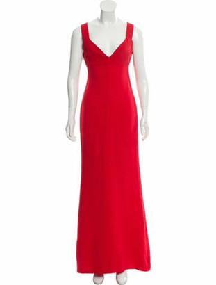 Victoria Beckham Sleeveless Maxi Gown Red