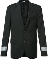 Lanvin trim blazer jacket - men - Polyester/Wool - 48