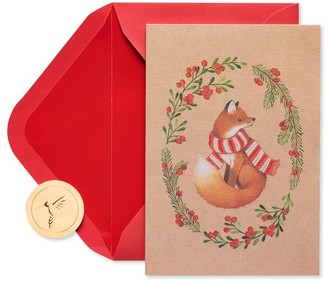Papyrus Holiday Boxed Cards Kraft Fox