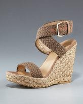 Alex Crocheted Ankle-Wrap Espadrille