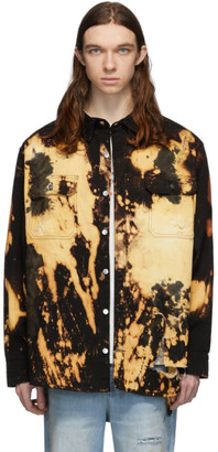 424 Black Bleach Heavy Destruct Workwear Jacket