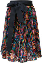 Sacai ribbon-tie skirt - women - Cotton/Cupro - 2