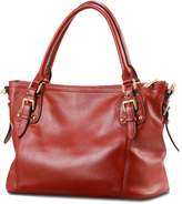 Kattee Vintage Genuine Soft Leather Tote Shoulder Bag