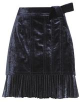 3.1 Phillip Lim Velvet and pleated metallic skirt