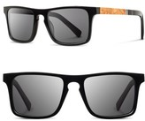 Shwood Men's 'Govy 2' 53Mm Sunglasses - Black/ Maple/ Grey