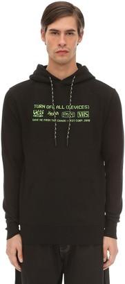 Tdt   Tourne De Transmission Device Embroidered Sweatshirt Hoodie