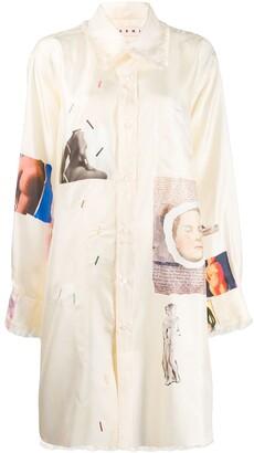 Marni Venus print shirt dress