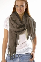LoveQuotes Scarves Love Quotes Linen Knotted Fringe Scarf in Gelato