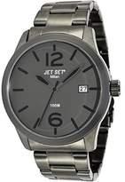 Jet Set J6280B - 262-Milan Men's Quartz Analogue Watch-Grey Face-Grey Steel Bracelet