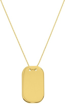 Saks Fifth Avenue 14K Yellow Gold Dog Tag Necklace
